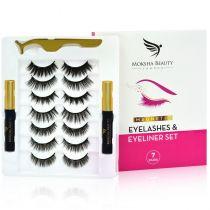 Magnetic Eyelashes & Eyeliner Kit - 7 Pairs